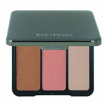 Eve Pearl BRONZING HIGHLIGHTER TRIO 3 Shades Gold Pink Sand - Champagne Classic