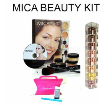 Mica Beauty Mineral Makeup Deluxe Kit Color: Dark +8 Stack Eye Shadow Shimmer Color :