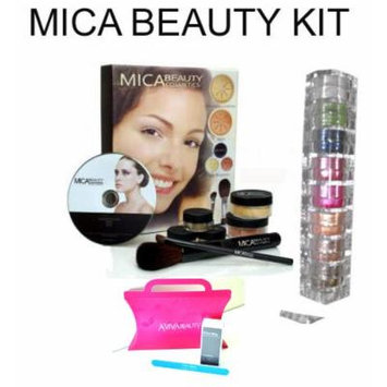 Mica Beauty Mineral Makeup Deluxe Kit Color: Dark +8 Stack Eye Shadow Shimmer Ccolor :