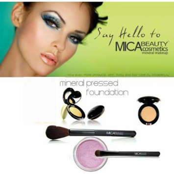 Mica Beauty Mineral Pressed Foundation Color: Mp2 Sandstone + 2 Brushes + Eye Shimmer #25 Orchid 1.75 Grams + A-viva Nail Kit