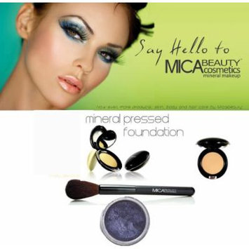 Mica Beauty Mineral Foundation Brush + Mica Mineral Pressed Foundation Color: Mp3 Toffee + Eye Shimmer #97 Radiance 1.75 Grams + Holiday A-viva Nail Kit