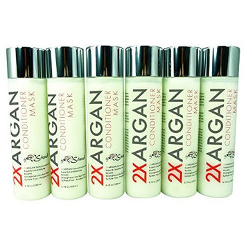 2XArgan Infusing Conditioner Mask by Strands 6.76 oz/200 ml Pack of 6