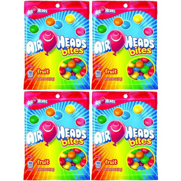 Pack of 4 Deliciously Fruity Airheads Bites 3.8Oz Bags! All the chewy Deliciousness of Airheads in Bite Size Pieces! (4 Bags)