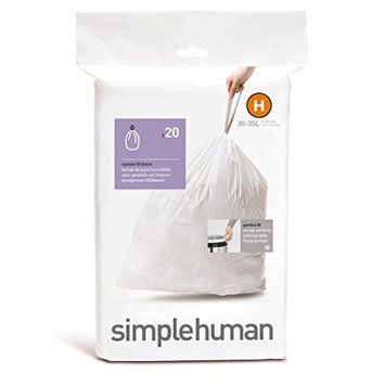 simplehuman Code H 20-Pack 8-9-Gallon Custom Fit Liners