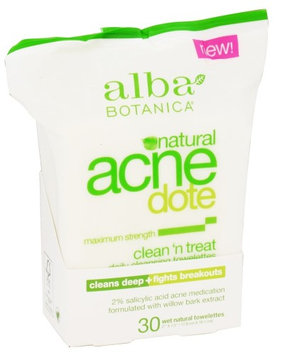 Alba Botanica - Natural ACNEdote Clean 'n Treat Towelettes(pack of 4)