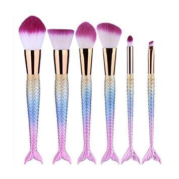 Baomabao 6PCS Make Up Concealer Brushes Eyebrow Eyeliner Blush Foundation Cosmetic