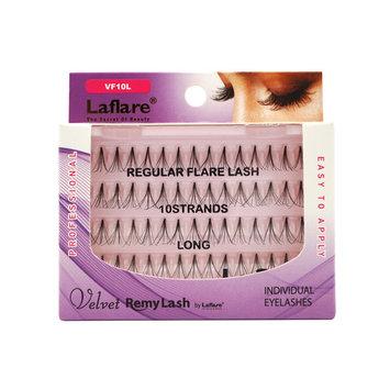 (3 Pack) LAFLARE Velvet Remy Lash Flare Lash 10 Long - VF10L