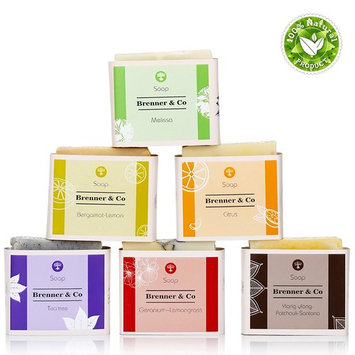 Handmade Organic Bath Soap Set For Body And Face, 15.5 Oz, 100% Natural Product, 6 Bars Different Scents For Women And Men