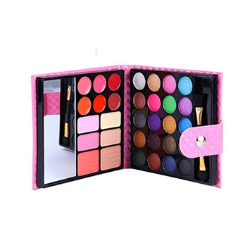 CAN_Deal Professional Makeup Kit Eyeshadow Palette Lip Gloss Eyebrow Powder Face Powder Blush Concealer,32 Color