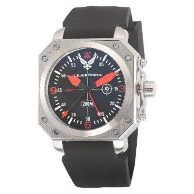 Mens' Wrist Armor U.S. Air Force C4 Swiss Quartz GMT Watch - Black