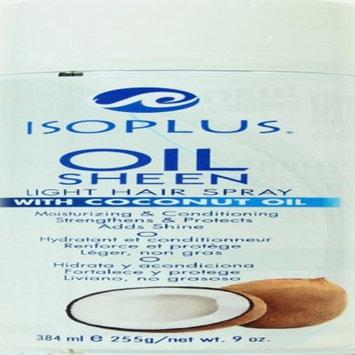 Isoplus Oil Sheen Light Hair Spray, 9 oz