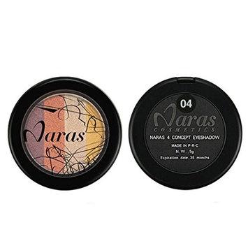 RNTOP 4 colors Eyeshadow Loose Powder Mineral Eyeshadow Shimmer Metallic Glitter Powder