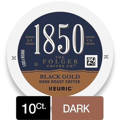 1850 Black Gold, Dark Roast Coffee, K-Cup Pods for Keurig Brewers, 10 Count [Dark Roast]