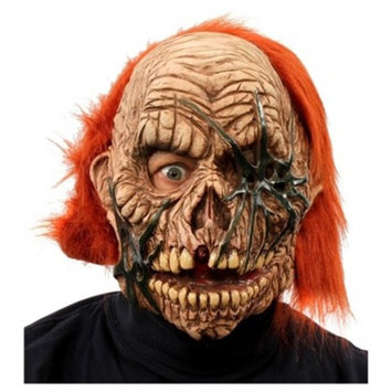 Corpse Zombie Full Mask with Red Hair