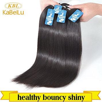 KBL 100% Virgin Human Hair Extensions - Brazilian Straight - 3 Bundles w/ Free Gift, 300 Grams Total []