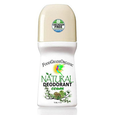 Organic & Natural Healing Deodorant for Men & Women Carcinogen-Free Aluminum-Free Alcohol-Free Gluten-Free Detox Deodorant for Adults & Children Unisex Healthy Paleo Vegan Rollon 24(Cedar)