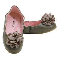L'Amour Gray Slip On Ballet Style Dress Shoes Toddler 5-Little Girls 4