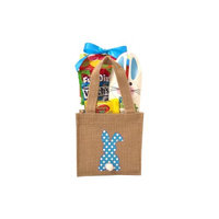 Gifts2gonow Burlap Bunny Easter Basket Blue