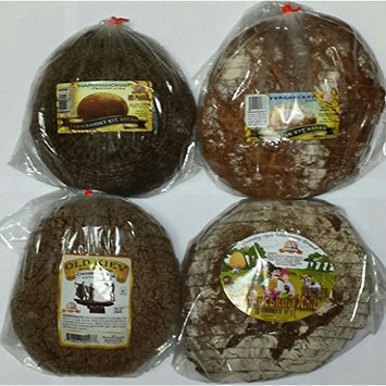 European Bread Sampler #4 (4 Kinds of Gourmet Rye Breads (Ukrainian Rye, Old Kiev Rye, Country Style Ukrainian Rye, & Narochansky Rye))