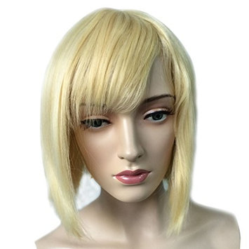 Namecute Short Blonde Wigs Natural Straight BOB Wig Heat Resistant Synthetic Fibre with Bangs for Women Hair Replacement Wigs + Free Wig Cap