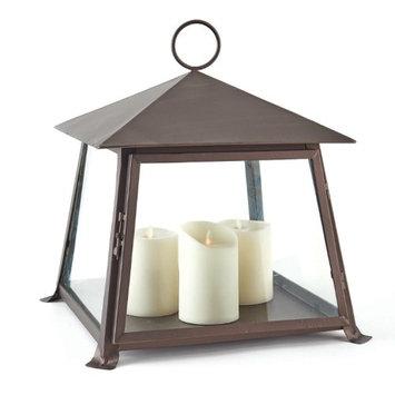 Cc Home Furnishings 15' x 18' Distressed Brown Decorative Pillar Candle Lantern