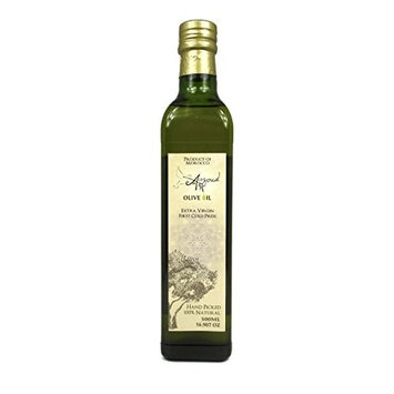 Auzoud Extra Virgin Olive Oil, Supports North African Women Farmers, 100% Natural, Hand-Picked, Cold Pressed, 500 ml (16.907 oz)