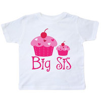 Big Sis Cupcakes Sister Toddler T-Shirt [baby_clothing_size: baby_clothing_size-2t]