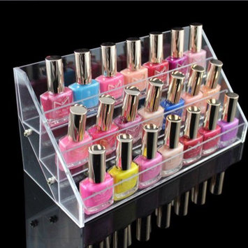 Nail Polish Table Rack, Estink 3 Tiers Cosmetic Nail Polish Clear Acrylic Holder Rack Tabletop Display Stand Holds Up to 30 Bottles(3 Tiers)