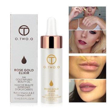 24k Rose Gold Elixir Skin Make Up Oil Infused Beauty Oil Essential Oil Before Primer Foundation Moisturising Face Oil