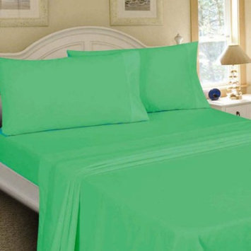 Mainstays Full 200 Thread Count Fitted Green Bed Sheet Set, 1 Each