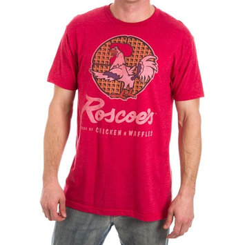 Roscoe's Chicken N Waffles Men's Red Heather T-Shirt-X-Large
