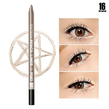 [16Brand] 16 Pencil Liner 0.5g / #PG02 Champagne Gold (No Smudging Waterproof Eyeliner) : Beauty