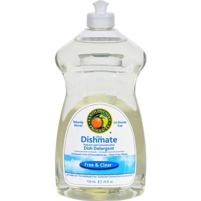 Earth Friendly Dishmate - Free and Clear - Case of 6 - 25 fl oz - HSG-1016245