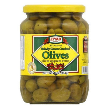 Ziyad Olives Balady Green Cracked 16 Oz Pack Of 6