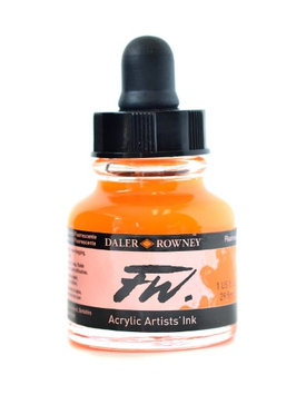 Daler-rowney FW Artists' Ink fluorescent orange, 1 oz. [pack of 3]
