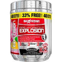 Six Star Pre-Workout Explosion Pink Lemonade Dietary Supplement Powder, 0.61 lbs