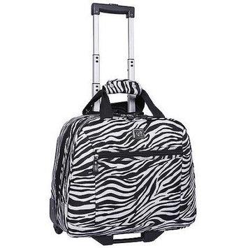 Protege Zebra Print Rolling Laptop Tote