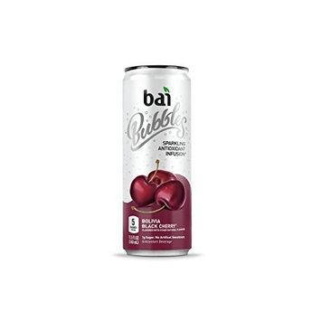 Bai Bubbles, Sparkling Water, Bolivia Black Cherry, Antioxidant Infused Drinks, 11.5 Fluid Ounce Cans, 12 count [Bolivia Black Cherry]