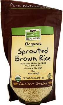 NOW Foods Real Food Organic Sprouted Brown Rice - 16 oz pack of 3
