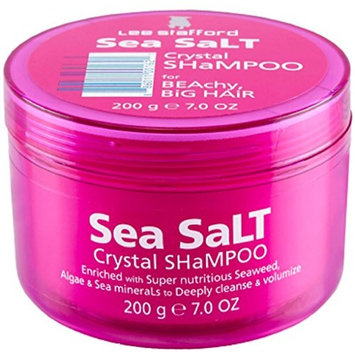 Lee Stafford Nourishing Sea Salt Crystal Shampoo For Volumizing, Cleansing and Exfoliating Hair and Scalp 200ml