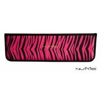 NuMe Heat Protectant Pouch for Flat Iron and Curling Wand, Hot Pink Zebra