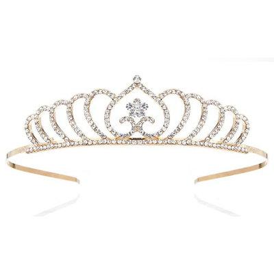 Nipoo 2018 NEW Golden Birthday Princess Crown for Girl - Child Wedding Party Flower Girl Crystal Headband Tiara, Daughter/Granddaughter Gift
