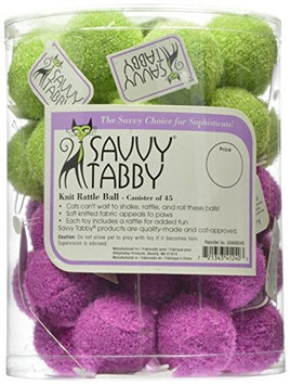 Savvy Tabby US4660 45 Knit Rattle Ball Canister 45 Pcs