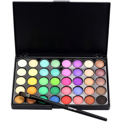 40 Colors Eyeshadow Cream Matte Eye Shadow Palette Brush Set, Staron Shimmer Eye Shadow Cosmetic Glitter Makeup Kit Eyeshadow Palette+Brush