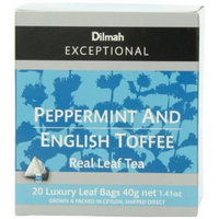 Dilmah Exceptional Leaf Peppermint & English Toffee, 20 Tea Bags,1.41-Ounce Boxes (Pack of 6)