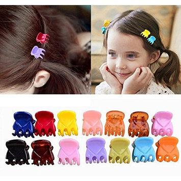 24pcs Girls Mini Hair Claws Plastic Hair Clips Clamps Hair Pin Hair Bangs Hair Barrettes with a Cute Box for Girls and Women Hair Accessories