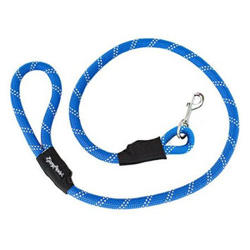 ZippyPaws Climbers Mountain Climbing Rope Dog Leash (Blue, 4-Feet)