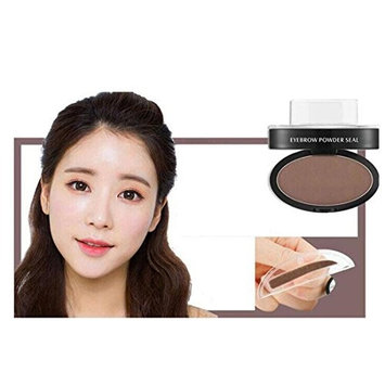 OVERMAL Brow Stamp Powder Delicated Natural Perfect Enhancer Straight United Eyebrow (Coffee)