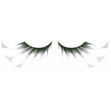 Zinkcolor White Feather Tip False Eyelashes F157 Dance Halloween Costume