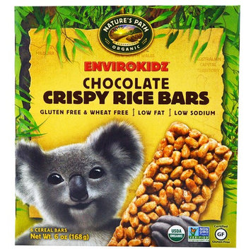 Nature's Path, EnviroKidz, Crispy Rice Bars, Chocolate, 6 Cereal Bars, 1 oz(Pack of 2)